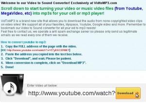 Convertire video youtube in mp3