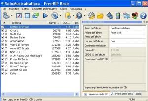 Convertire cd audio in mp3 con FreeRIP
