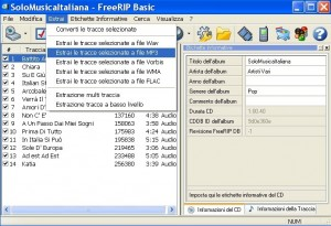 Convertire cd audio in mp3