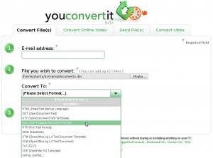 Convertire word in pdf online con Youconvertit