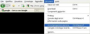 Come navigare in anonimo anche con Firefox