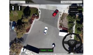 Simulatore di guida auto su Google Maps