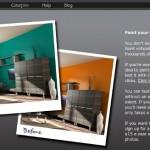 Dipingere le pareti della casa virtualmente online