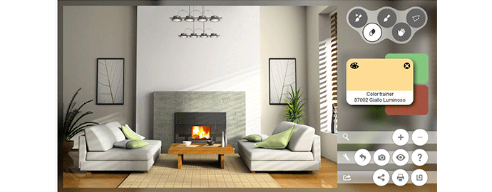 Dipingere le pareti di casa virtualmente online