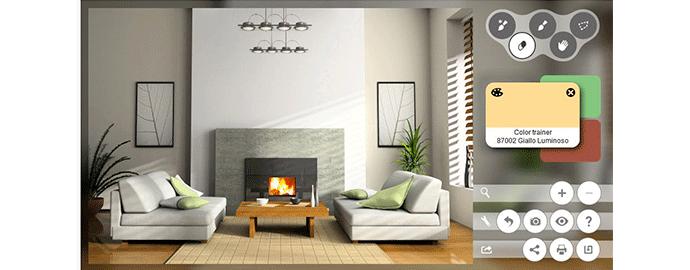 Dipingere le pareti di casa virtualmente online - Idee per dipingere pareti di casa ...