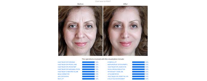 modificare viso online