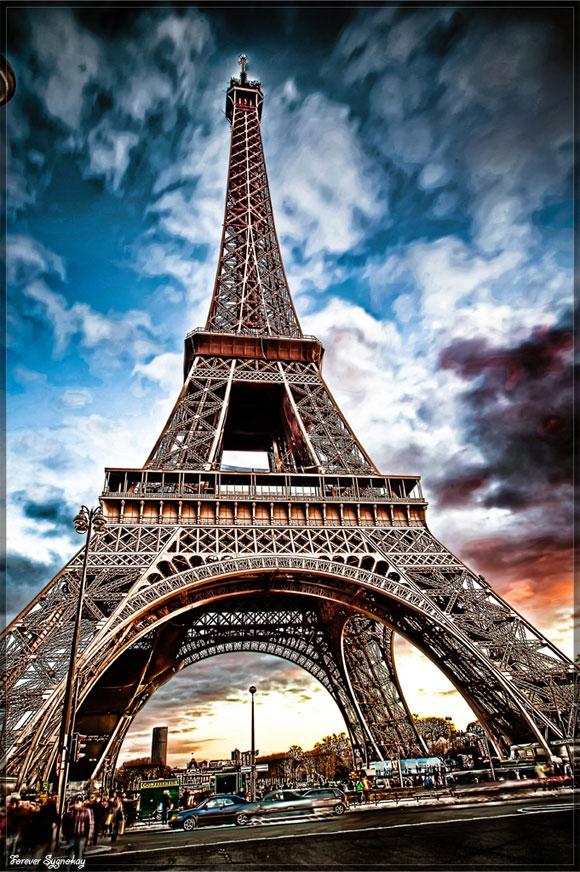 raccolta di stupende immagini della torre eiffel da varie