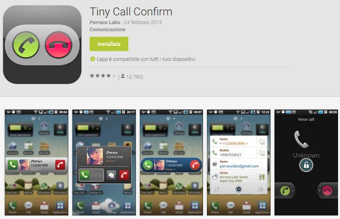 chiamate involontarie android