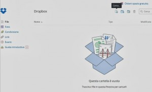 Creare account Dropbox