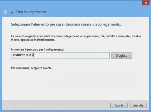Spegnere Windows 8.1