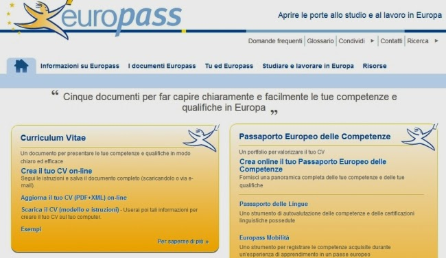 come realizzare un curriculum vitae in formato europeo
