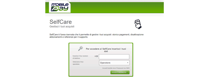 disattivare servizi mobilepay