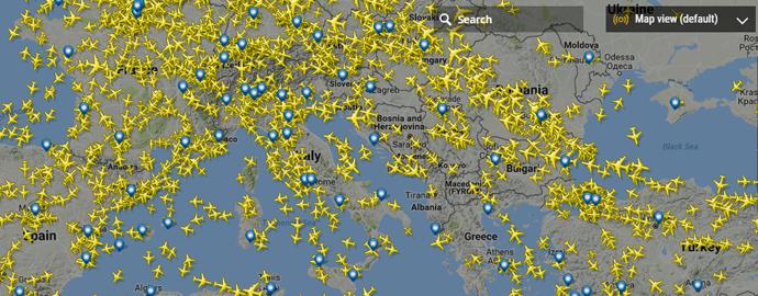 aereo tempo reale