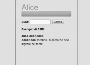 Trovare password rete wifi Alice