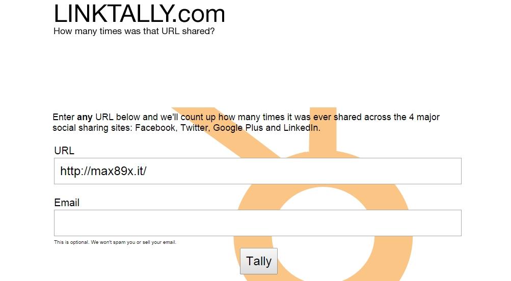 Condivisione URL sui social network