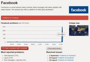 Facebook down bloccato