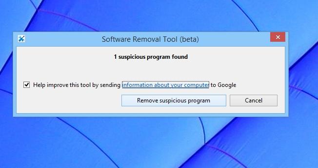 Rimuovere programmi dannosi per Chrome