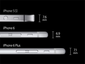 iPhone 6 confronto dimensioni con iPhone 5s