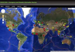 Mappa terremoti, calamità in tempo reale