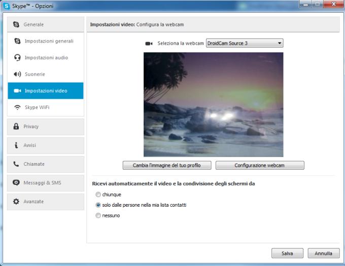 configurare skype