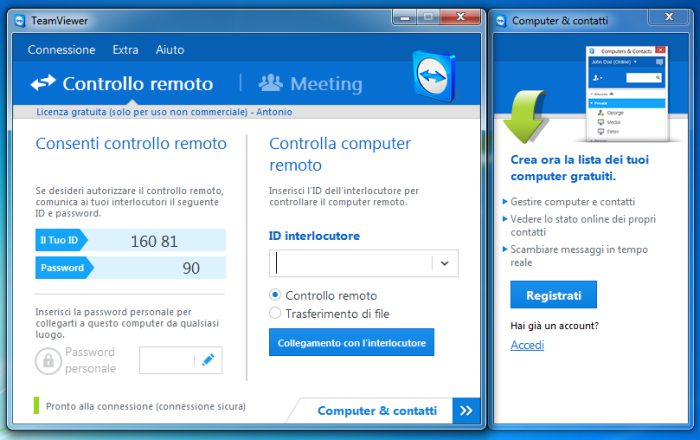 controllare desktop windows