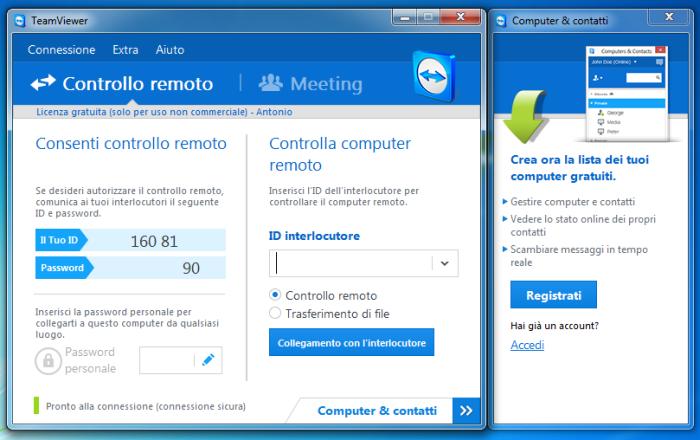 controllare desktop windows
