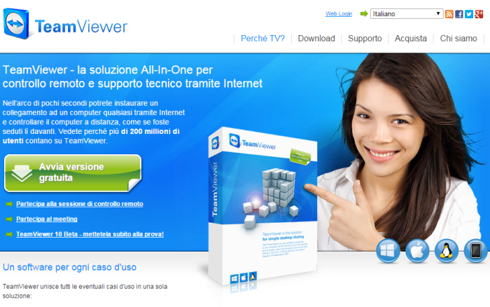 software controllo remoto gratis
