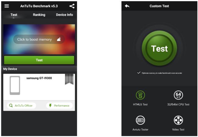 test prestazioni android