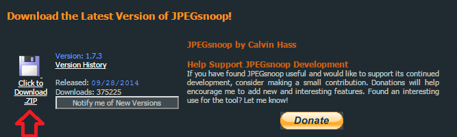 JPEGsnoop download