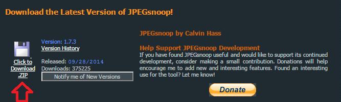 JPEGsnoop download