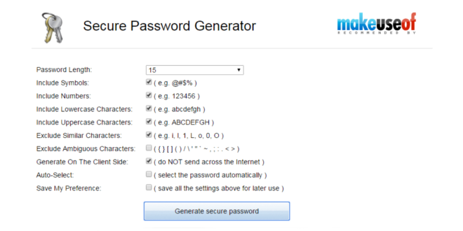 generare password