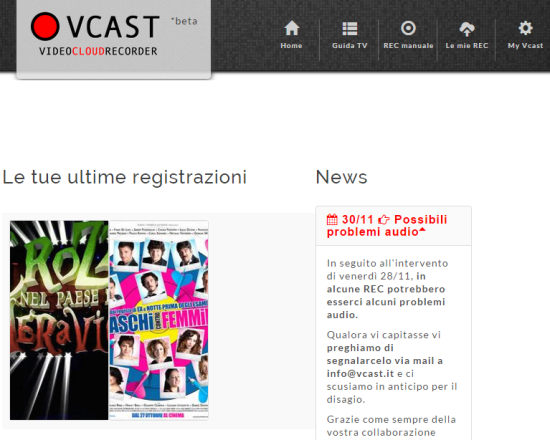 registrare programmi tv