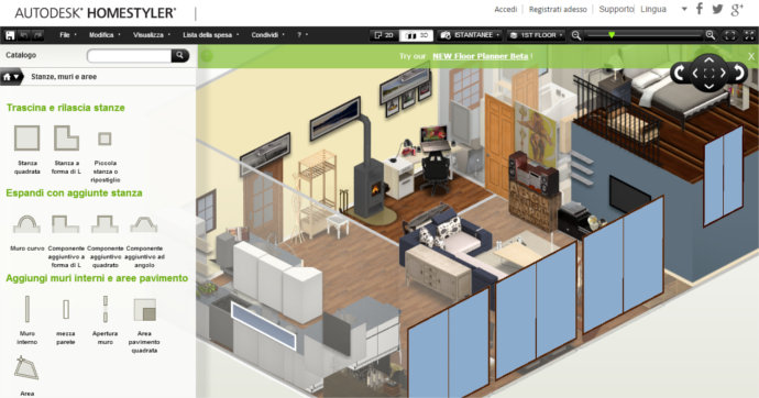 Progettare casa online gratis arredare l 39 appartamento for Disegnare progetto casa