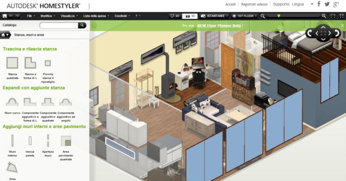Casa immobiliare accessori arredare casa 3d online gratis for Disegnare cucina 3d gratis