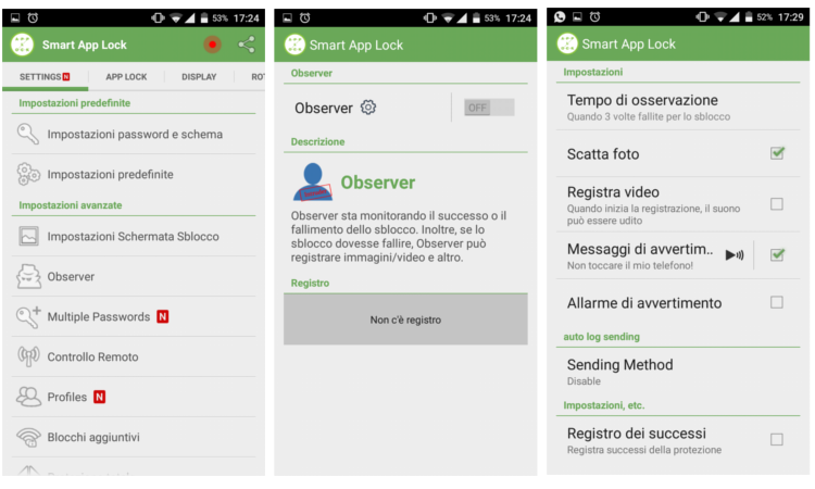 registra intruso android