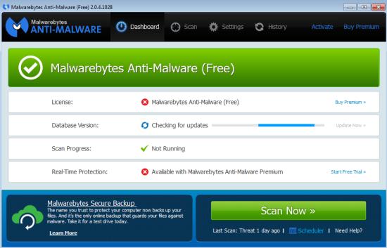 cancellare spyware windows