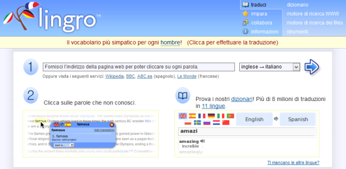 dizionario online