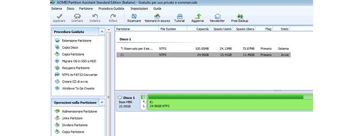 aomei software partizionare
